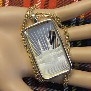9ct Gold New Bullion Faith Pendant And Chain With One Ounce Fine Silver Ingot