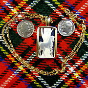 9ct Gold New Bullion Stallion Horse Pendant And Chain With 10g Fine Silver Ingot