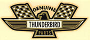 Vintage 60and039s Water Decal Genuine Thunderbird Parts Ford Hot Rod Nascar Nhra Old