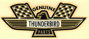 Vintage 60's Water Decal Genuine Thunderbird Parts Ford Hot Rod Nascar Nhra Old