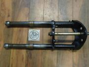 1961 Matchless G2 / Ajs Model 14 Triple Trees + Stanchions / Front Fork