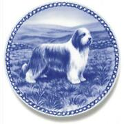Bearded Collie - Dog Plate Made In Denmark From The Finest European Porcelain