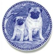 Pug - Dog Plate Made In Denmark From The Finest European Porcelain