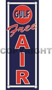 That Good Gulf Free Air Gasoline Oil And Gas Station Aluminum 16.75 X 6 Sign