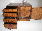 1880's Japanese Meiji Travelers Campaign Desk Jewelry Boxes