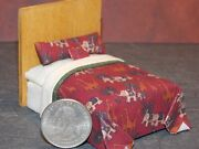 Dollhouse Miniature Bed Animals 124 Half Inch Scale 1/2 D7 Dollys Gallery