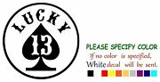 Lucky 13 Cards Graphic Die Cut Decal Sticker Car Truck Window Boat Laptop 22