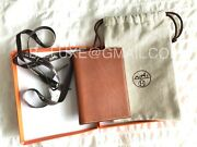 Hermes Authentic Discontinued Petit Modele Agenda Cover W/ Refill Gold Leather