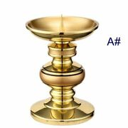 1pcs 5 13cm Copper Butter Lamps Candle Holder Candlestick Temple Worship A