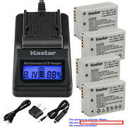Kastar Battery Lcd Fast Charger For Canon Nb-7l Cb-2lze And Canon Powershot G10