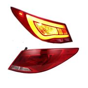 Rear Lamp Red Clear Led Tail Lights For 2012-2015 Hyundai Accent Verna Solaris