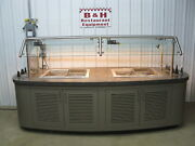 114 X 48 Island Salad Bar Refrigerated 4 Pan Cold Well Buffet Table 9and039 6 X 4and039