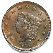 1826 N-7 Pcgs Ms 64 Bn Matron Or Coronet Head Large Cent Coin 1c