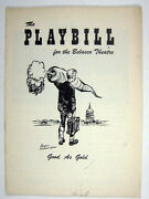 Good As Gold Playbill Opening Night March 7 1957 Roddy Mcdowall Zero Mostel Flop