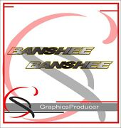 Yamaha Banshee Decals Reproduction Rear Fender Stickers 2002 Model