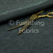Beautiful Soft Textured Semi Faux Suede Upholstery Material Fabric In Navy Blue