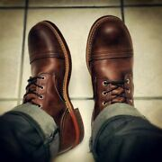 Handmade Men Antique Brown Round Toe Ankle High Casual Boots, Men Ankle Boots
