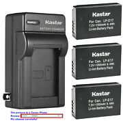 Kastar Battery Ac Wall Charger For Canon Lp-e17 Lc-e17 And Canon Rebel T6i Camera
