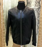 Menand039s Genuine Python Leather Made To Measure Bespoke Black College Jacket