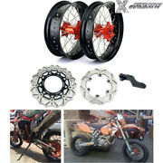 17and039and039 Supermoto Wheels Brake Rotors Bracket For Sx 125 150 250 Sxf 450 15-17