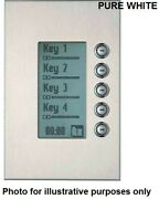 Clipsal C-bus Saturn Dlt Wall Switch 5-gangs Glass Fascia With Grid Pure White