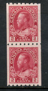 Canada 124 Very Fine Mint Coil Pair - Bottom Stamp Is Never Hinged