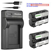 Kastar Battery Slim Usb Charger For Sony Np-fm500h And A700 Dslr-a700b Dslr-a700k