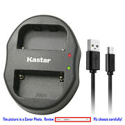 Kastar Battery Dual Usb Charger For Sony Np-fm500h And A100 Dslr-a100/b Dslr-a100h