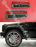 Emblem Sticker Logo Badge 2 Pcs For Mercedes Gclass W463 Powered By Brabus Style