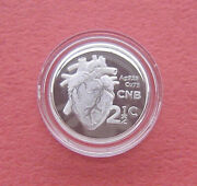 South Africa 2017 50 Years First Heart Transplant 2.5 Cents Silver Proof Coin