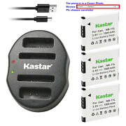 Kastar Battery Dual Usb Charger For Canon Nb-11l Cb-2ld Canon Elph 150 Is Camera
