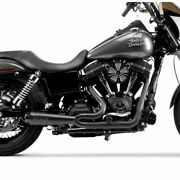 Two Brothers Black W/ Carbon 2-into-1 Comp-s Exhaust For 2006-2017 Harley Dyna