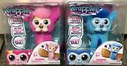 Little Live Wrapples Princeza Pink And Skyo Blue Set Of 2 Interactive Plush Toy.