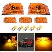 5 Car Roof Lights Cab Marker Yellow Lens Andbulb For 2003 - 2009 Hummer H2 Suv