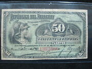Paraguay 50 Centavos 1916 P137 Paraguayan 28 Currency Banknote Paper Money