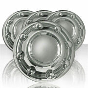 16 Chrome Wheel Center Hub Caps 8 Lug Rim Covers For 1994-2003 Dodge Ram Truck
