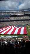 New York Jets Season Tickets Section 124 Row 43 Seats 13 And 14.