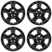17and039 5 Spoke Black Wheel Cover Hubcaps For 2017-2019 Ford Escape S