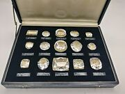 Rare Antique Historical Diamonds Full Set In Covered Fitted Case Circa 1910-1915