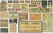 1/35 Paper Wwii German Road Signs Marks Late War For Diorama 35101