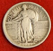 1917-p T1 Standing Liberty Quarter 90 Silver Collector Coin Gift Sl264