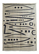 Paul Klee - Heroic Strokes Of The Bow - Inspired Handwoven Silk Rug 4andprime10andprime Andtimes 6andprime7andprime