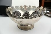 Rare Vintage Estate Sterling Silver W H Glenny Sons And Co Punch Bowl 10