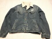I/d Mtv Clothing Collectible Sherpa Trucker Denim Jacket - Size L