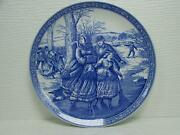 1996 Annual Christmas Plate Victorian Annual Christmas By Spode Skaters B243