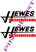 Hewes Decals Pair Sticker Decal Boat Decals Flats Redfisher 19 Stickers Usa Made