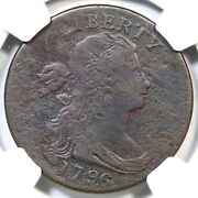 1796 S-112 R-4+ Ngc Vg Details Draped Bust Large Cent Coin 1c