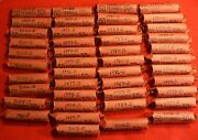 1996-d Lincoln Memorial Cent Penny 50 Coin Roll Circulated