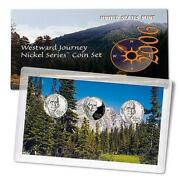 2006 P,d And S Westward Journey Nickel Series 3 Coin Set