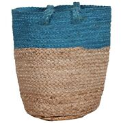 Hand Woven Braided Jute Hand Bag Wide Space Storage Gorgeous Bohemian Indian Bag